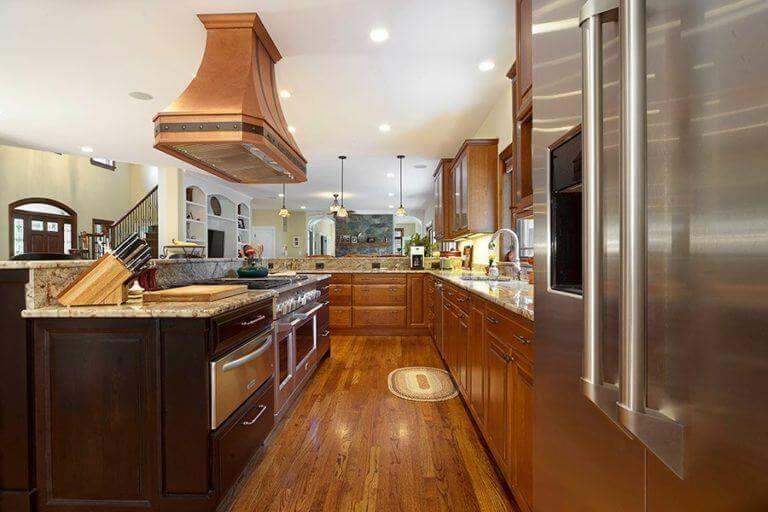 Island Mount Copper Range Hoods Kitchen