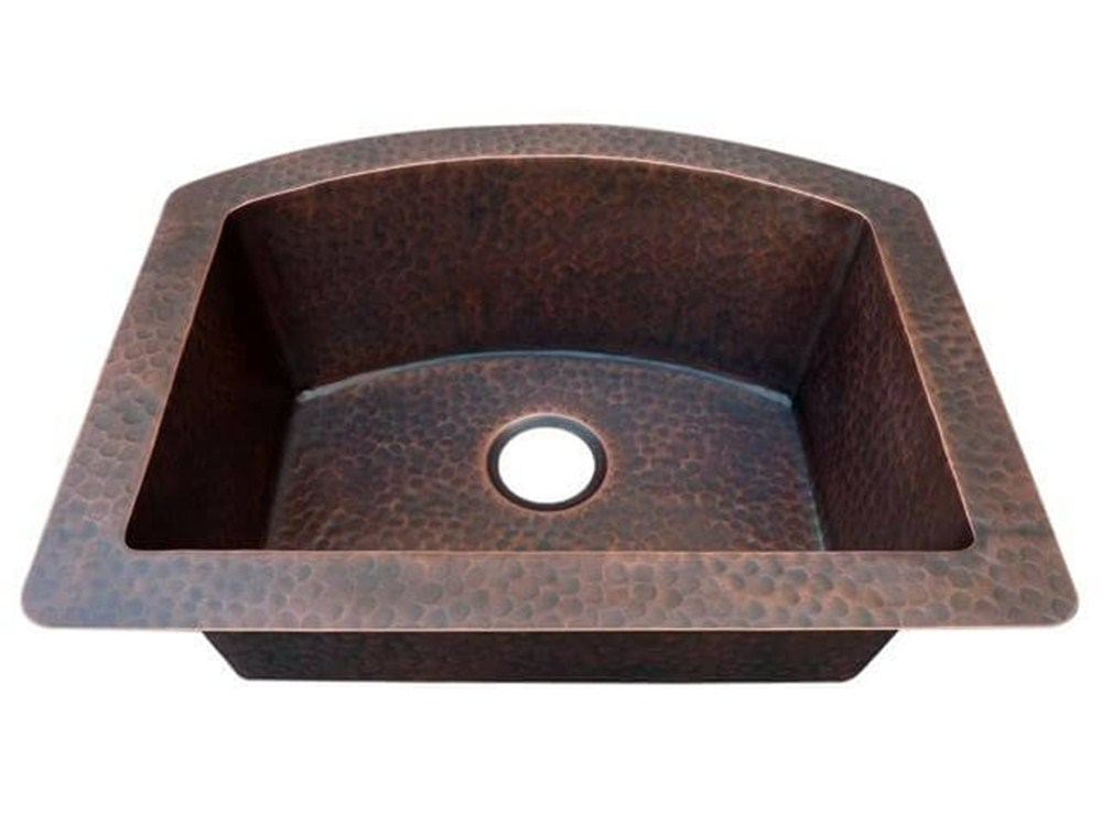 Arched Single Bowl Copper Kitchen Sink Built To Order Custom Kitchen Sinks Copper Hoods