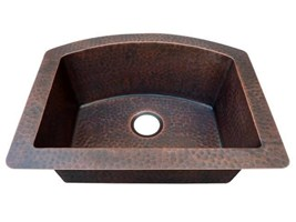 Copper Kitchen Sink Traditional Under/Over Mount Arched Single Bowl American Kitchen Hoods Soft Hammering
