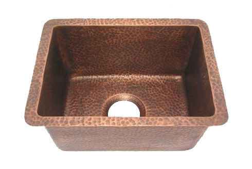 Soft Hammered Antique Copper Bar Sink