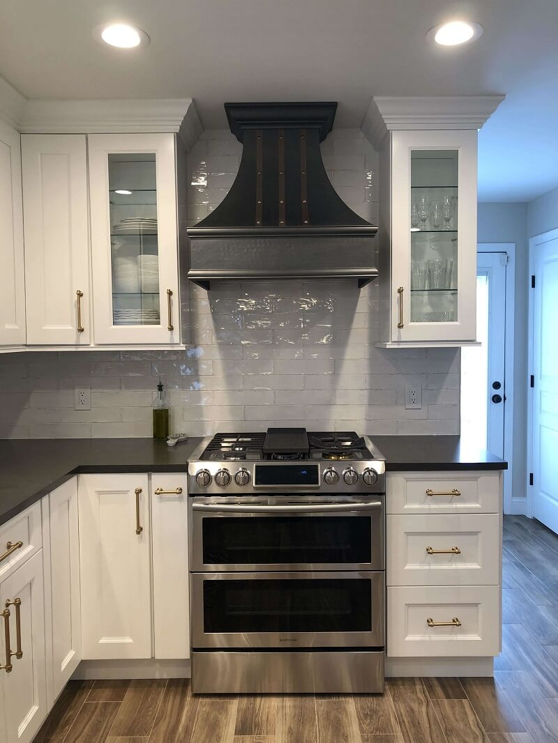 Picture of: Modern Style Vancouver Copper Hood Custom Straps And Rivets Copper Hoods