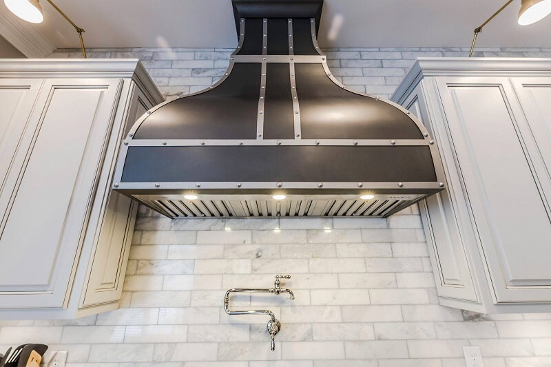 Handcrafted Bella Copper Range Kitchen Hood with Unique Design Options