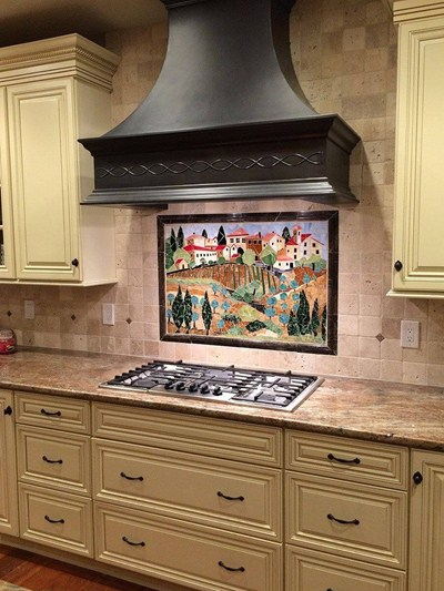 Modern Style San Francisco Copper Range Hood Custom Made-to-Order