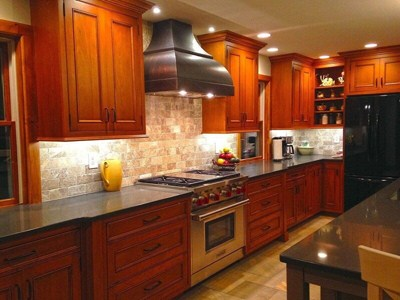 "Custom-Built Rustic ""D.C."" Bronze Colored Range Hood Smooth Texture"