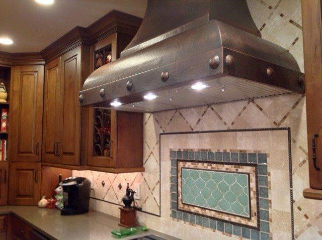 European-Style Built-to-Order Personalized Custom Apron Rivets Copper Range Hood